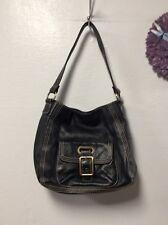 Ladies purse handbag St. John's Bay black leather H48