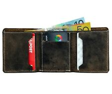Buffalo Leather Men's Wallet Credit Card Tri-fold Wallet Slim Wallet FreeShippig