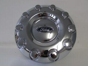Razer Auto Chrome 10 Lug Rear Wheel Center Hub Cap 1 Pair for 05-17 Ford Super Duty F350+F450+F550 Dually Truck Only