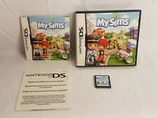 Nintendo DS NDS My Sims Game Cartridge Complete CIB w/Box,Manual,Insert 2DS+3DS