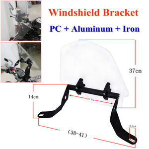 Motorcycle Front Windshield Bracket Sand Prevention Wind Screen Spoiler Clip Kit