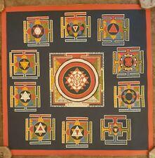 10 Mahavidya Shri Yantra Thangka (Thanka). Choose the Color of the Brocade