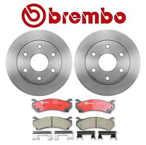 Brembo Front Brake Kit Disc Rotors Ceramic Pads For Chevrolet Tahoe 2001-2006