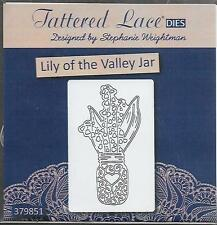 New listing Tattered Lace Cutting Die - Lily Of The Valley Jar - Flowers