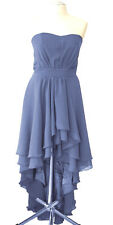 MOUSSELINE COCKTAIL ROBE de soirée robe bleu S