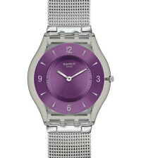 "SWATCH SKIN ""METAL KNIT PURPLE"" (SFM121M) NEUWARE"