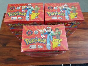 Pokemon 1999 Merlin Topps 1st Edition Series 1 - 100 Packets In sealed box! B