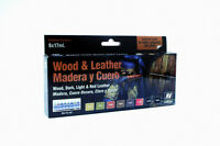 VALLEJO HOBBY PAINTS VAL70182 Model Color Set - Wood and Leather (x8)