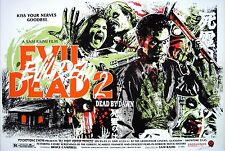"Evil Dead 2 Movie Silk Fabric Poster Horror 11""x17"""