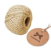 1000pcs Kraft Paper Gift Tags Wedding/Homemade Craft Packing Label+ Rope String