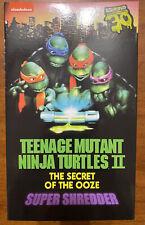 NECA Super Shredder Teenage Mutant Ninja Turtles 2 Secret of the Ooze 30th TMNT