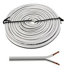 Lautsprecherkabel 5m - 2x1,5mm² - 100% CCA Kupfer ; Audiokabel - weiß
