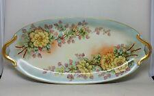Antique Limoges France Porcelain Hand Painted Tray Signed J.G. CROFT VNM