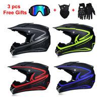 Motocross Motorbike Helmet Extreme Sport Off Road ATV Dirt Bike Helmet+free gift