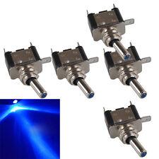 5Pcs 12V 20A Blue LED Light Rocker Toggle Switch SPST ON/OFF Car Truck Sales