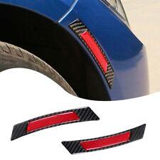 Red Carbon Fiber Protector Reflective Guard Sticker Fit Car Wheel Eyebrow Edge