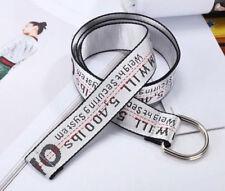 Fashion Off White Belt Tie Down Nylon Cotton Big IRON Head Industrial Belt