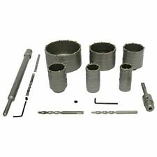 SDS Plus Shank Hole Saw Cutter Concrete Cement Stone Wall Drill Bit Wrench 12pcs