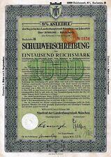 8% Schuldverschreibung der Bayer. Landeshauptstadt München, 1929 (1.000 RM)