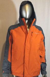 New Columbia Jacket, Col Orange and Grey, Size Large 14/16