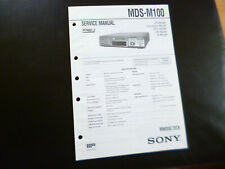 Original Service Manual Schaltplan  Sony MDS-M100