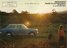 Nissan Datsun 1000 Sunny 1969-70 UK Market Sales Brochure Saloon Estate