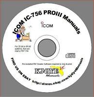 Icom IC-756 PRO III CD SERVICE & OWNER'S MANUALS + Sales Brochure KJ4IYE CD ONLY