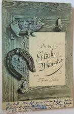 """""""Neujahr, Schwein, Hufeisen, Pilz"""" 1905  ♥ (18483)"""