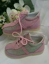 BABY Mädchen Sneakers Kinder Schuhe MADE IN ITALY Gr 24 Rosa Glitzer Wild LEDER