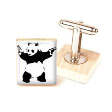 Banksy Inspired Panda Cufflinks Panda Banksy handmade cufflinks unique gift