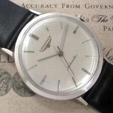 Mens 1959 Original Longines 10K White Gold Filled Automatic Ref 1081 Swiss Watch