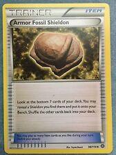 Pokemon Card- Armor Fossil Shieldon 98/114 Non Holo NM +  Bonus cards