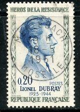 STAMP / TIMBRE FRANCE OBLITERE N° 1289 HEROS DE LA RESISTANCE / LIONEL DUBRAY