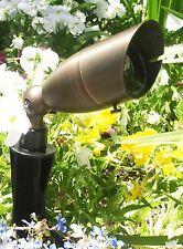 Low Voltage Landscape Lighting -  Pro. Up Light Brass Bullet