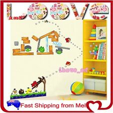Angry Birds Kids Removable Decal Vinyl Wall Art Stickers Home Nursery Paper