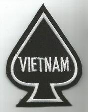 VIETNAM DEATH CARD ACE OF SPADES  MILITARY PATCH - VIETNAM SPADE