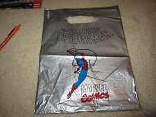 RARE SILVER SPIDERMAN PLASTIC COMIC BAG USED AND WORN BUT COOL
