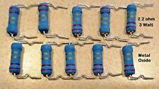 10 pcs. 2.2 ohm 3 Watt 5% Metal Oxide Power Resistors, 2.2 ohms, 10 pieces