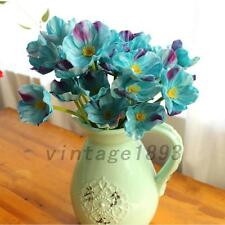10PCS Artificial Poppy Silk Flowers Wedding Bouquet Home Party Decor Gift