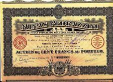 French bond. Sonora, Mexico: Minas Pedrazzini Gold & Silver Mining Corpor. 1921