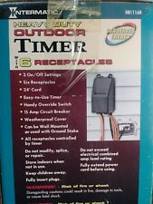 INTERMATIC HB1116R 6 RECEPTACLE OUTDOOR ELECTRIC TIMER 15 AMP 120 VAC NEW IN BOX