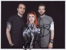 Paramore (Band)  SIGNED Photo 1st Generation PRINT No.'d Ltd + Certificate / 11