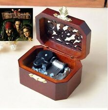 Pirates of Caribbean - { He's A Pirate} WOODEN OCTAGON CARVING MUSIC BOX