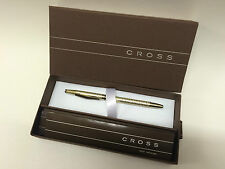 New CROSS Spire Fountain Pen GOLDEN SHIMMER 18K Solid Gold Nib Gift Wrapped