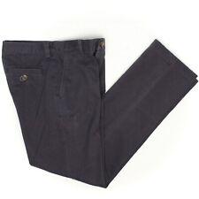 Brooks Brothers Fleece Boys Dress Pants 12 Solid Navy Blue Flat Front Cotton
