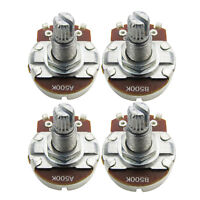 NEW 2 A500k & 2 B500k Guitar Bass Pots Long Split Shaft Full Size Potentiometers