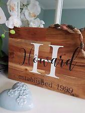 Family Name Sign, Last Name Sign, Established Sign - Wedding Gift, Wood Sign
