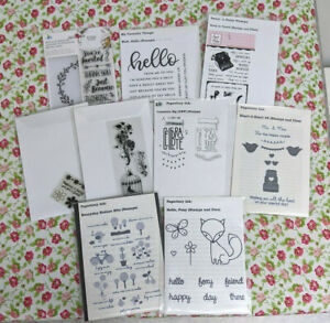 Clear Stamp & Die Lot of 9 Papertrey Ink Celebrate, Foxy, Everyday Button; Sassy