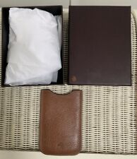 BOXED MULBERRY VINTAGE BROWN LEATHER MOBILE PHONE CASE COVER WALLET VGC Note
