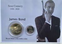 New Sean Connery as James Bond royal mint £5 and a-z 10p coin gift set